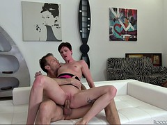 shorthaired bitch mindy a rides rocco's hard shaft