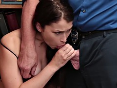 lp officer bangs jennifer in every way until he cums