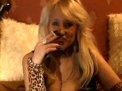 Smoking blonde talking dirty