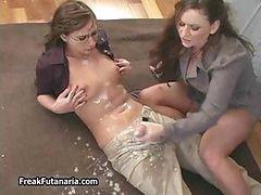 Horny Teacher Jerking Her Dame Part1