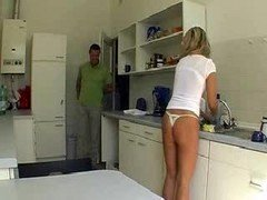 Wife Gets Abused In The Kitchen
