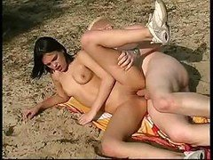 18yo nudist fucked hard at beach