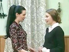 Nice dark-haired chick starts behave utterly badly when she feels friend�'s wet cum bucket