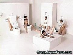 Human Toilet Babes Facialed!