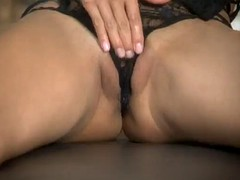 she masturbates in doggystyle position