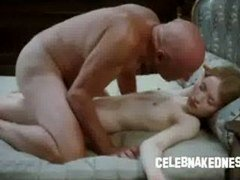 Celeb emily browning naked and additionally slim laying prone on