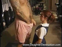 Young and fresh daughter brutally hatefucked by daddy