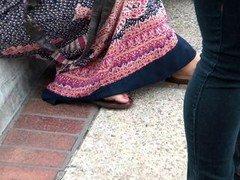 Two far eastern sluts showing of feet.