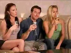 Super cool swinger party starts right after two wine glasses