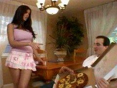 Big Sausage Pizza - Shy Enjoy Brunette Pink Skirt Trimmed