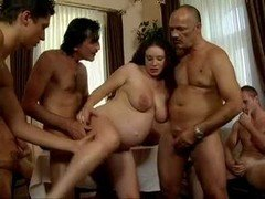 daddy's Familiars Gang-fuck his pregnant daughter