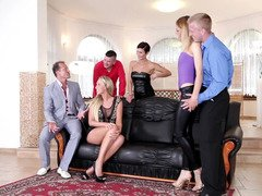 Swingers are having a hot group sex in this party with backdoor sex