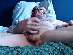 large cock grandpa stroke on cam