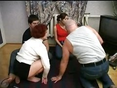 Family Getting down and dirty In Foursome