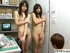 Japan nudist shoplifters hide goods in their pussys
