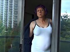 naughty gigi smoking - white dress