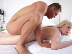 Charlyse Angel gives blowjob the dick that fucks her tight asshole