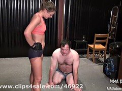 babe against a tough stretch beatdowns using punishment and headscissor
