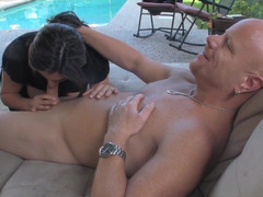 Remarkable Raylene seduces Tom Moore for active sexual actions