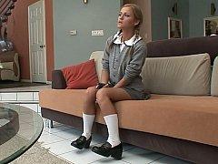 A first-class schoolgirl gets hardcored