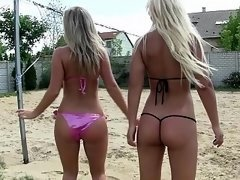 Pool group fucking with European chicks