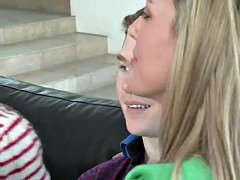 Grown-up broad Brandi Worship with sizeable boobs teaches young sister and brother