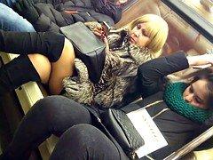 old legs on train