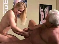 Youthful horny doll is keen to get banged by this old dude with a colossal member in many positions