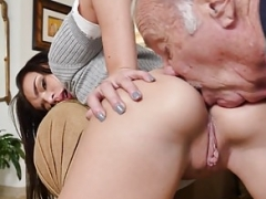 18-19 year old babe rimmed before cockriding oldguy