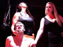 Brunette adult video star female domination with cumshot