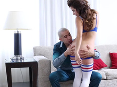 Cute young Isabella De Santos fucked in athletic socks