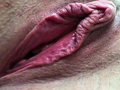 Non-professional Wife Good-looking Pussy Open Gape Big Labia Clit Cum