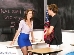 A student is fucking a glamorous big-boobed teacher Alexis Fawx