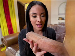 Hot french instructor Anissa Kate takes monster cock deep in her cunt