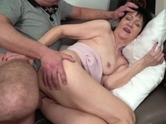 Hot sexual adventure of mature female with four times younger man
