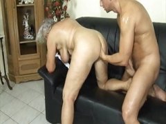 Grandma seduced by slutty stepson