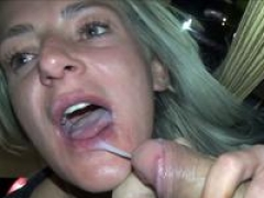 Blond german rookie sexually available mom swallow cum blast public in restaurant