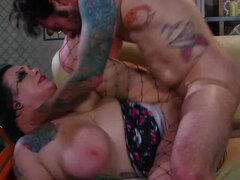 Curvy Scarlet LaVey getting spanked & fucked rough