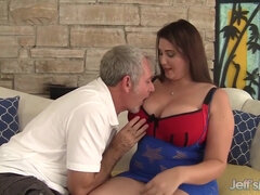 Thick beautiful plumper Angel DeLuca has old and young sex