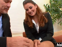 Shaved Guy Makes A Skinny Babe Moan - allie haze
