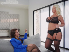 Passionate lesbian action of Alura Jenson and Isis Love