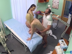 Fake Hospital (FakeHub): Doctor and nurse team up and pleasure married patient