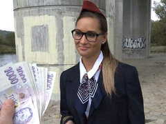 Stewardess Gets Cash for Mating