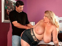 Sensual BBW angel Renee Ross roughly fucked by a young man