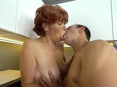 Lusty granny loves fully hardcore sex