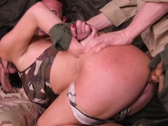Military Action in Her Back Section