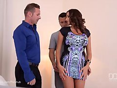 Threesome Therapy - Busty Goddess Sensual Jane Fucked By Doctor And Husband
