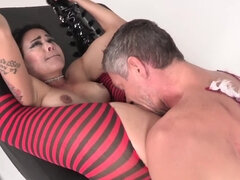 Randy harlot Dana Vespoli is pair up with dirty Mick Blue