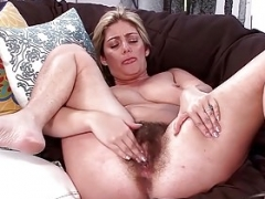 Alicia plays with her excited aged bush