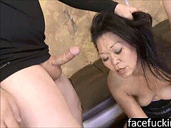 (new) 2 folks throat tear up asian mummy Jeanna Silks to exhaustion